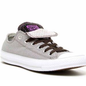 Converse Gray Double Tongue Ox Sneaker